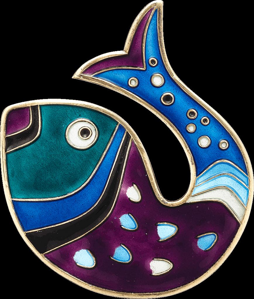 fish-brooch