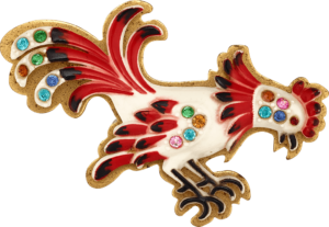 cock-brooch