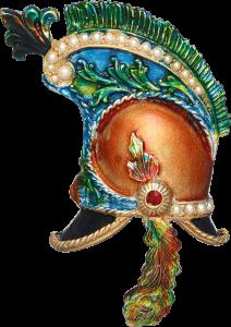 Helmet brooch